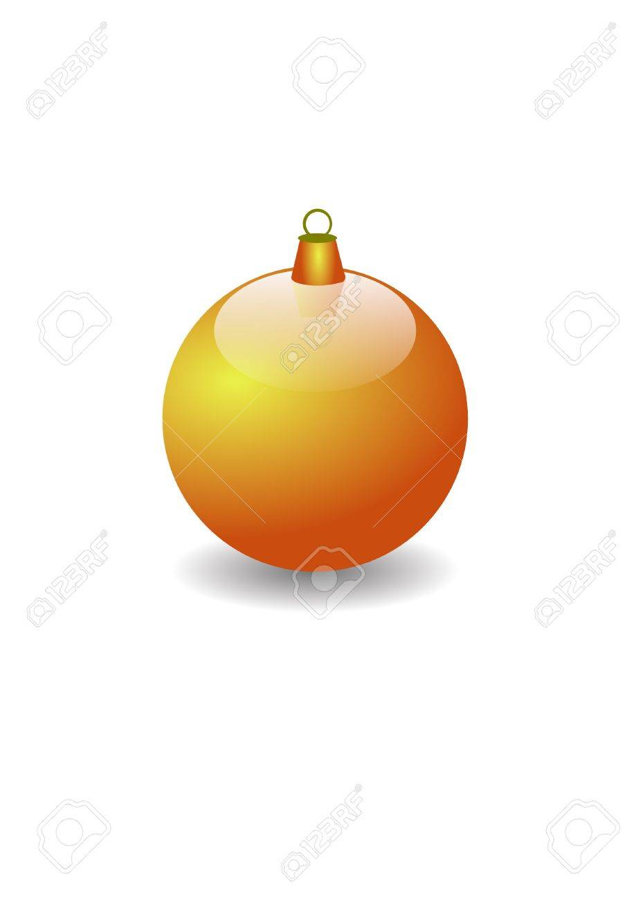 jpeg image from svg vector. 3D gold Christmas ball Stock Photo - 2379735