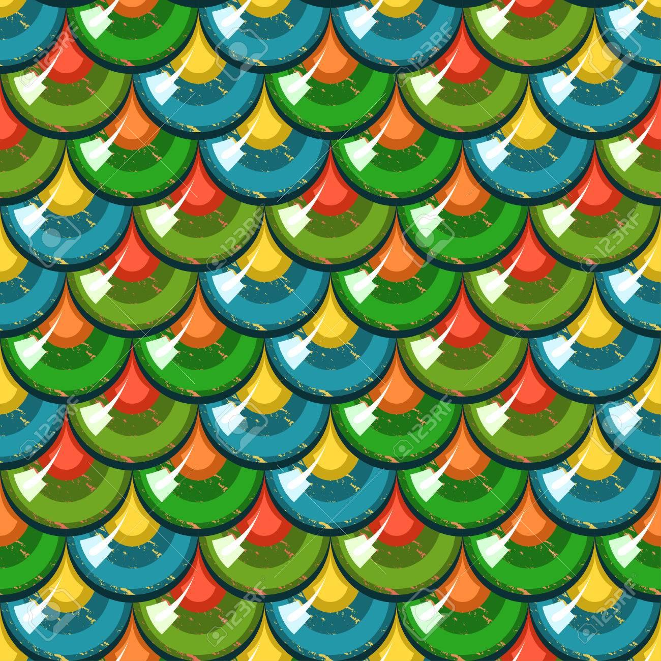 Escamas Brillantes Coloridos Inconsútil De Los Pescados De Río ...