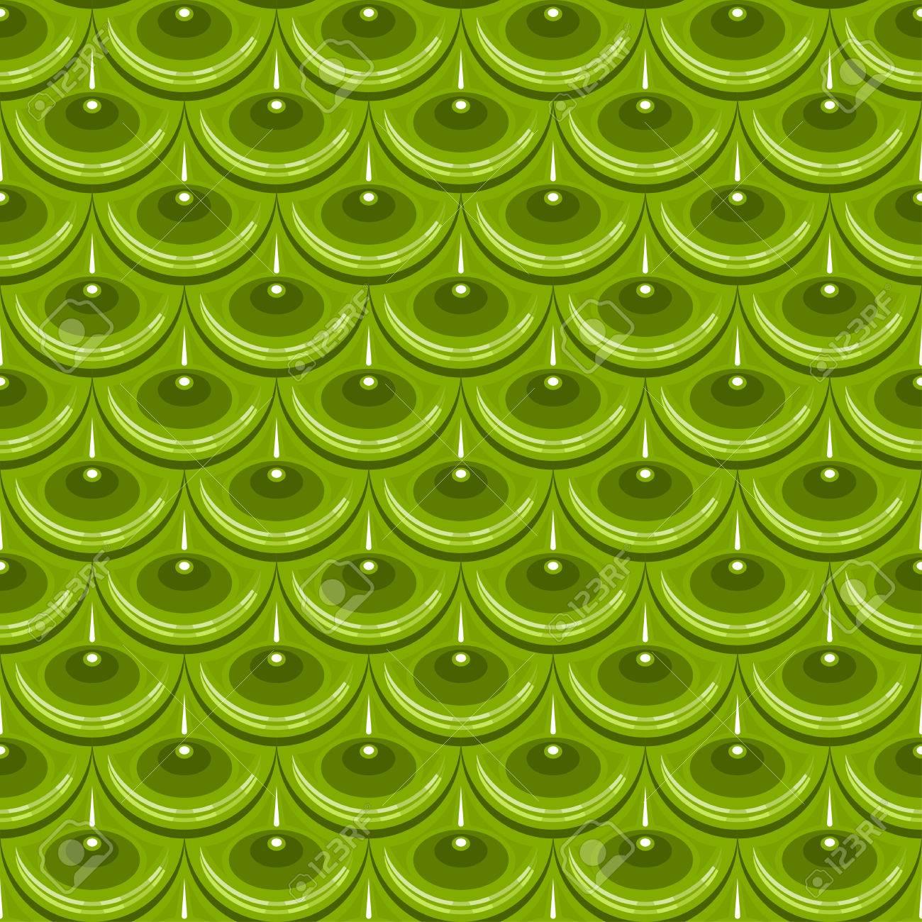 Escamas Brillantes Verde Inconsútil De Los Pescados De Río. Escala ...