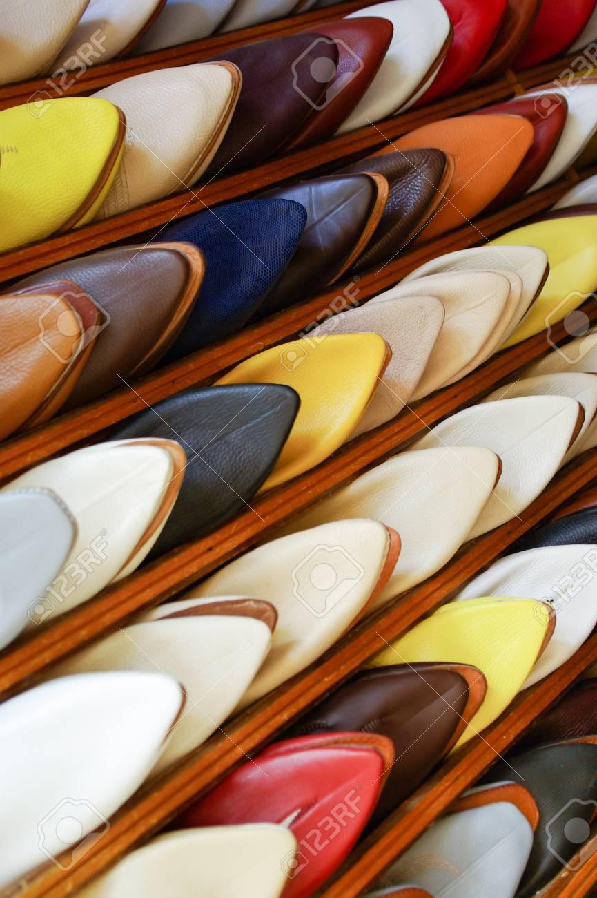 Hombres Alineados Marroquíes Rack En Colorido Zapatos De Silppers Un dqgWa7dP