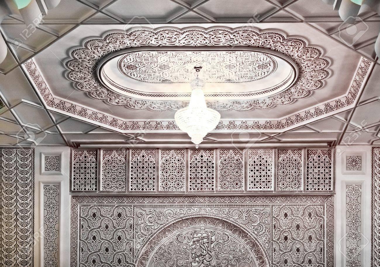 banque dimages dcoration dintrieur dtail dune mosque marocaine