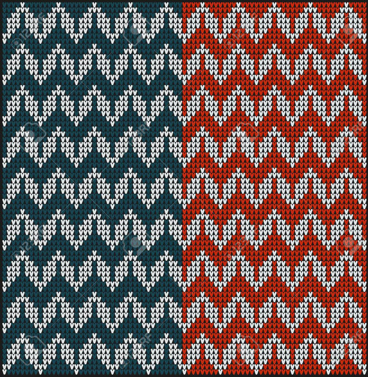 Diseño Suéter De Invierno En El Punto De Lana De Textura. Patrones ...