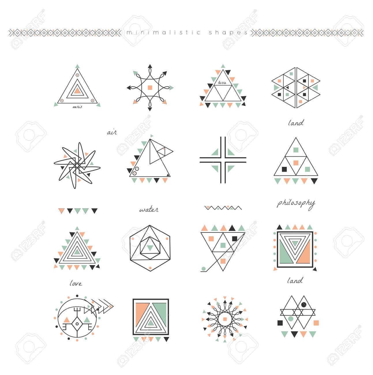 Sacred geometry  Set of minimal geometric shapes  Business signs,