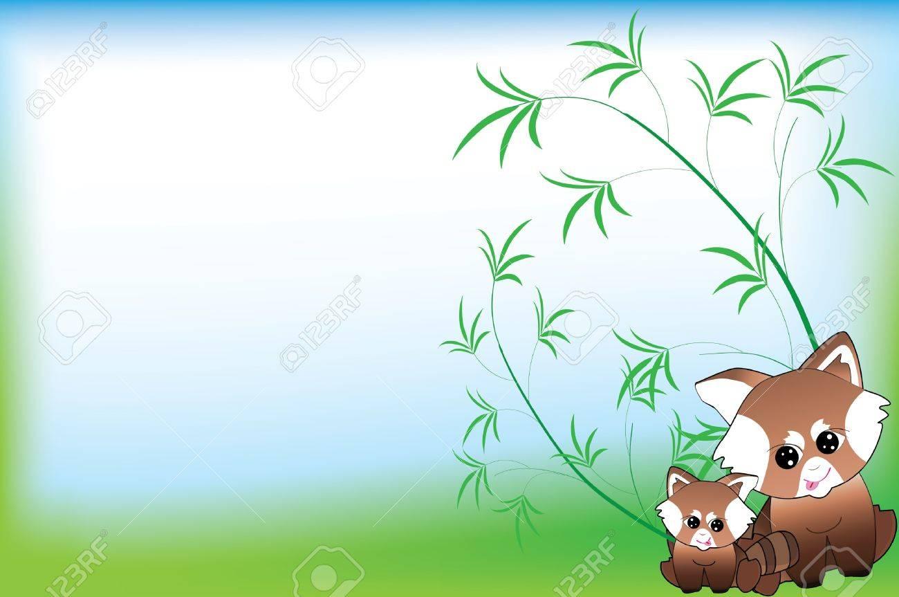 Red panda love background Stock Vector - 13158773