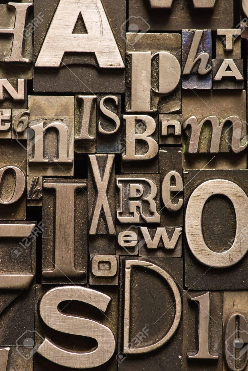 A random arrangement of letterpress letters Stock Photo - 3440604
