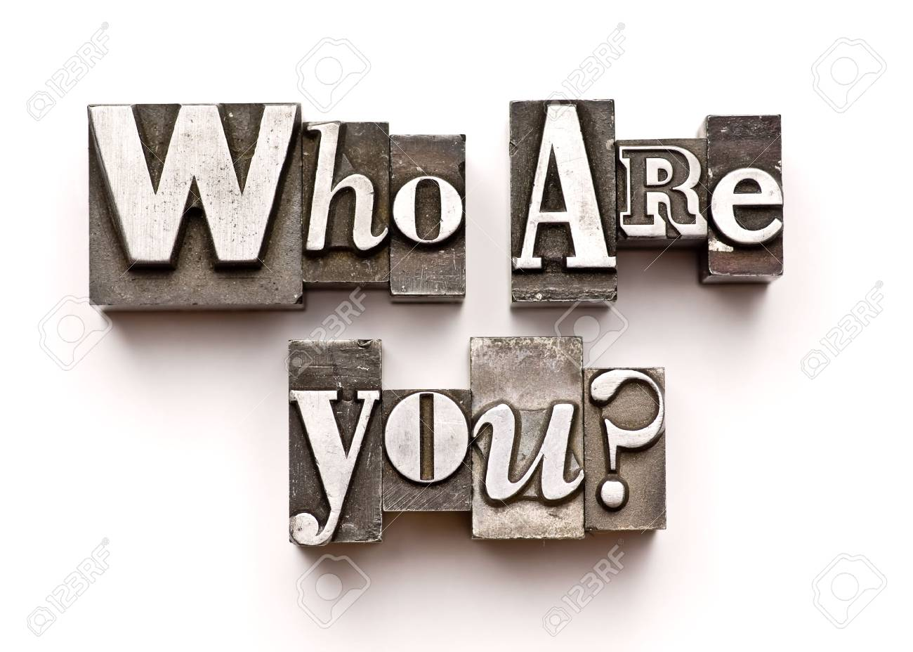 Who are you? photographed using vintage letterpress type Stock Photo - 3593509