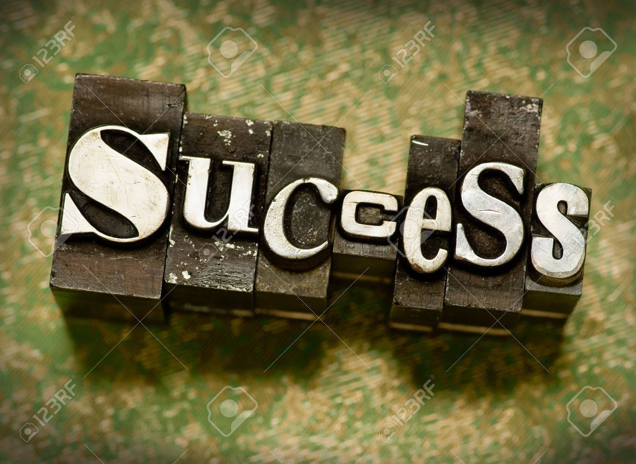 The word Success done in letterpress type Stock Photo - 4065882