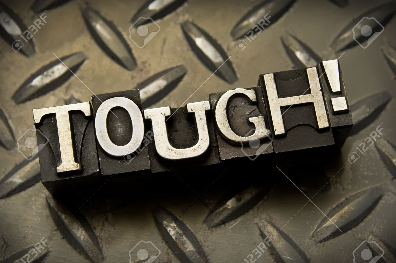 The word Tough done in letterpress type Stock Photo - 4065860