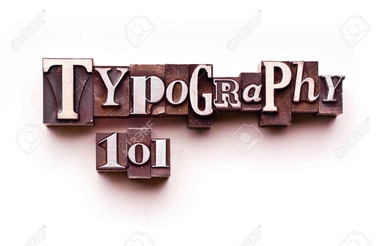 The words Typography 101 done in letterpress type Stock Photo - 4065942
