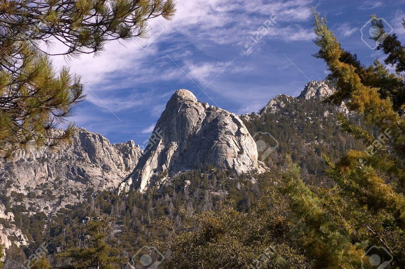 Tahquitz Rock, Idyllwild, San Jacinto mountains, Riverside County, Southern California, United States Stock Photo - 4161741