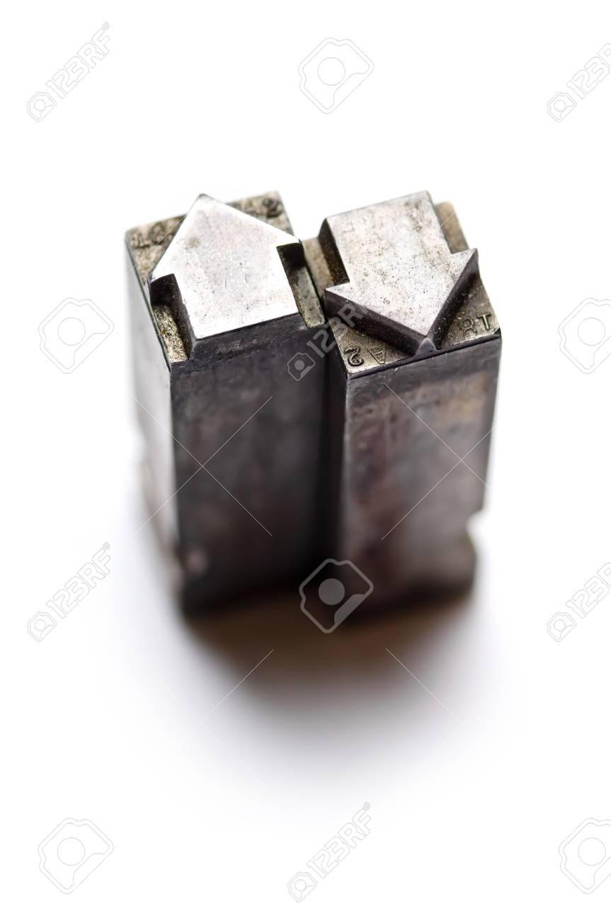 Arrow shape letterpress type Stock Photo - 4229204