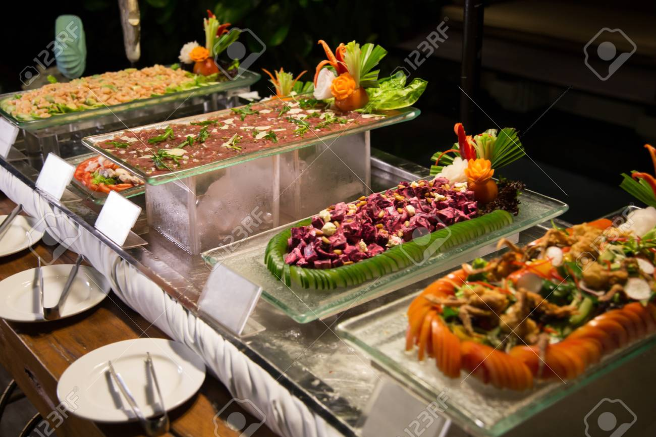 Surprising Night Time Buffet Dinner Assorted Fresh Delicious Food Download Free Architecture Designs Scobabritishbridgeorg
