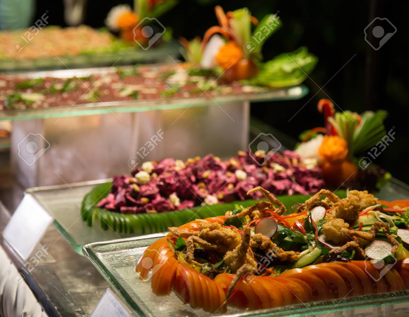 Fine Night Time Buffet Dinner Assorted Fresh Delicious Food Download Free Architecture Designs Scobabritishbridgeorg