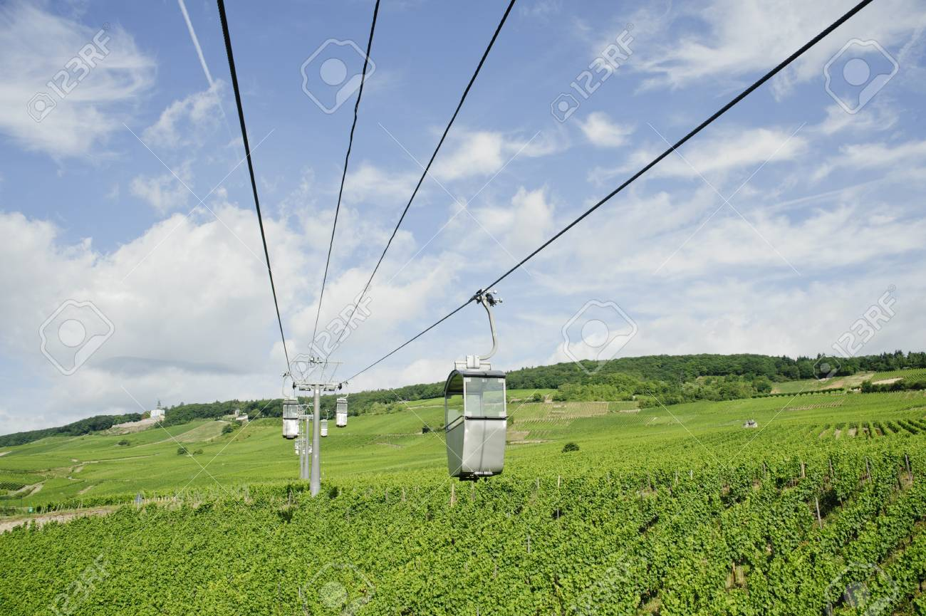 transportation of cable car on vineyard valley in germany Stock Photo - 13107122
