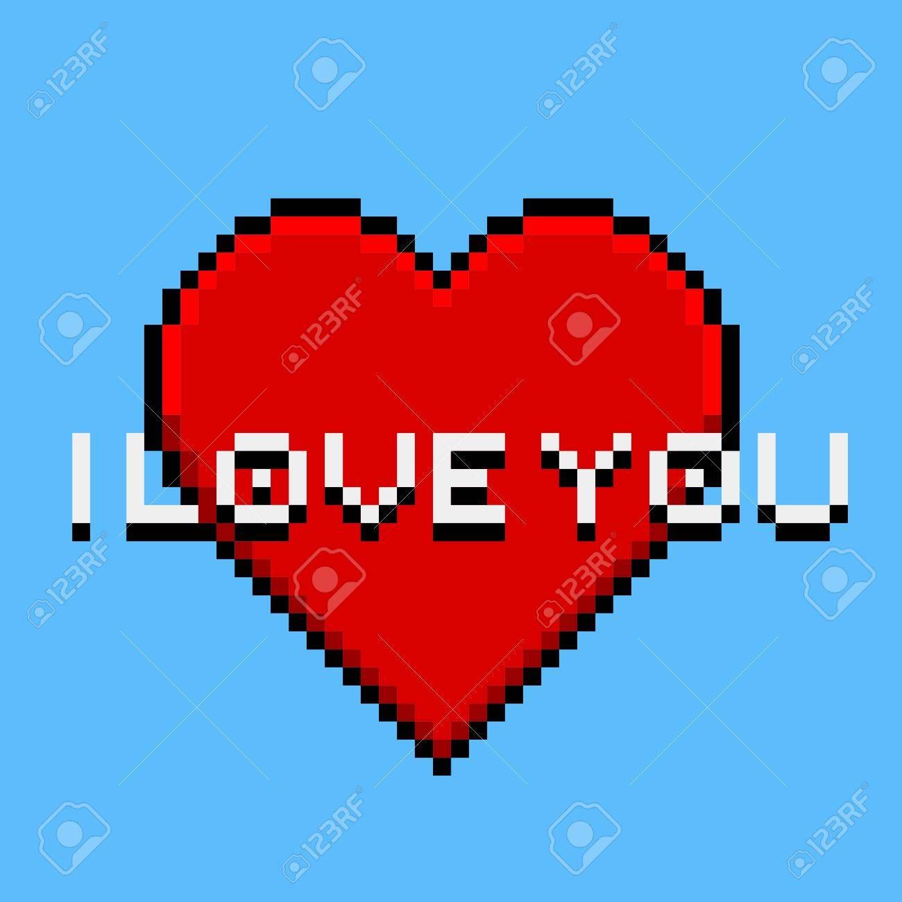 Pixel Art Panda Avec Coeur