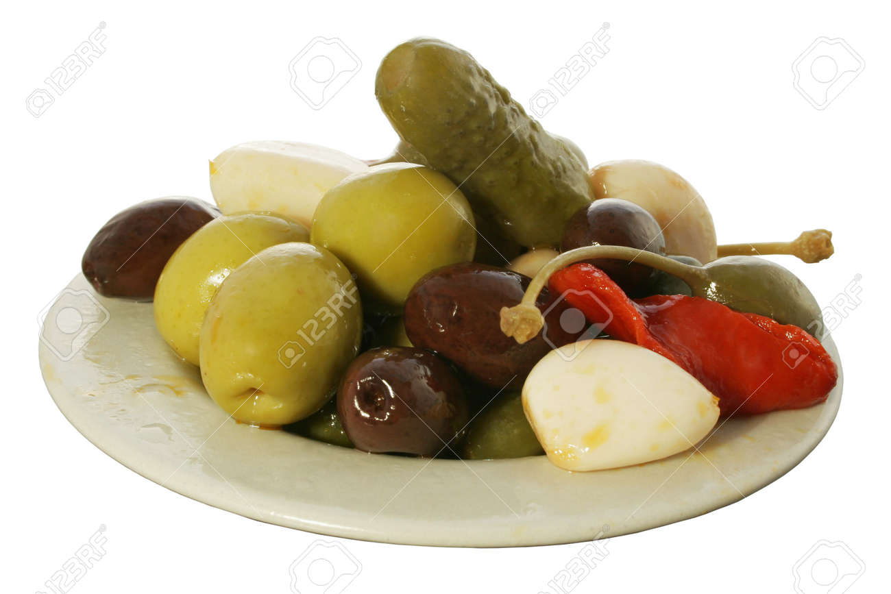 Olive and pickle tapa Stock Photo - 318861