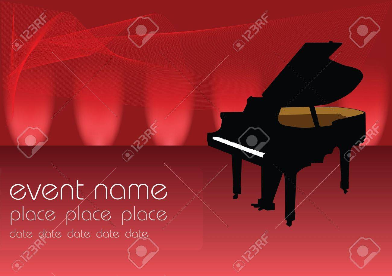 piano music vector Stock Vector - 9162838