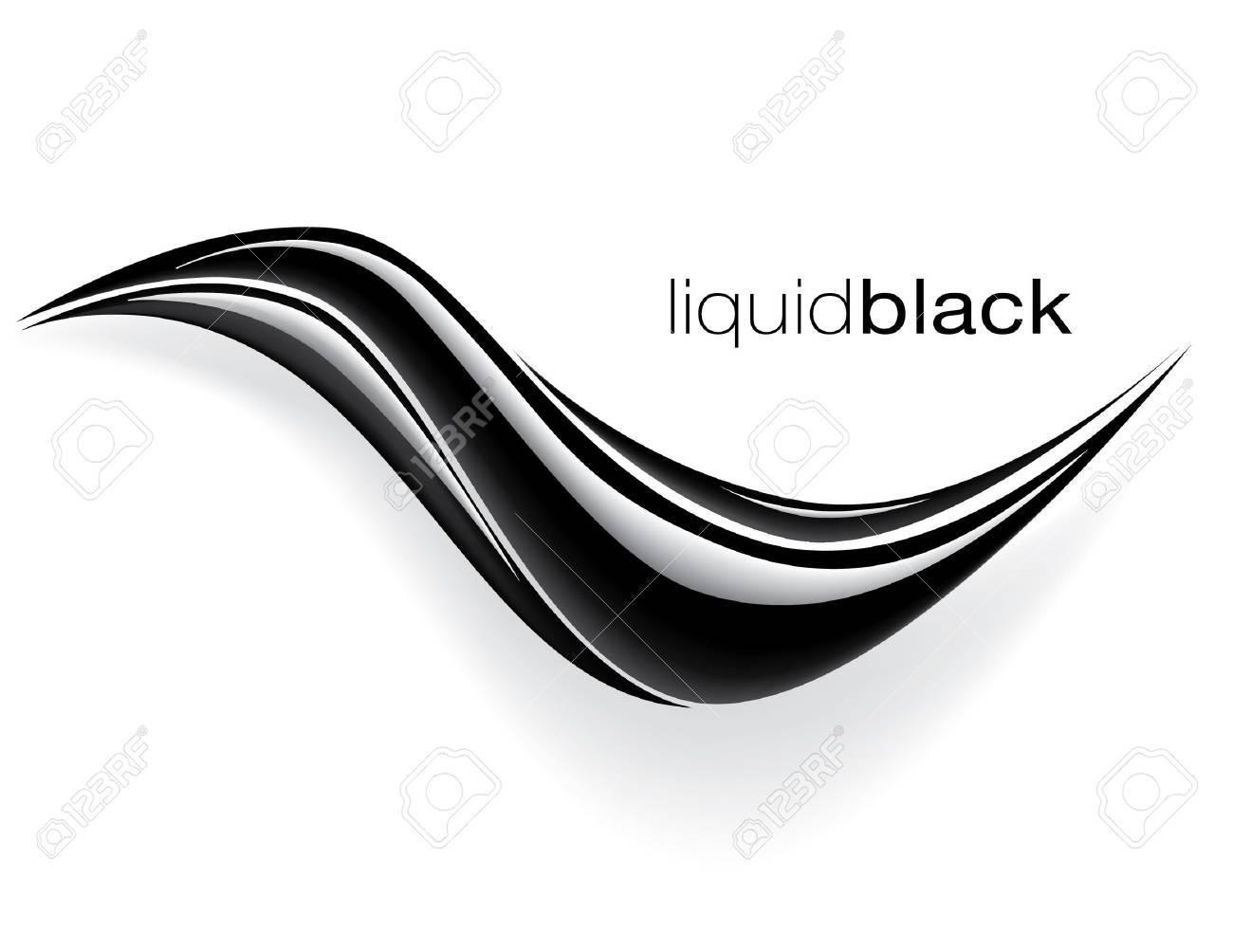 black wave design vector Stock Vector - 9188679