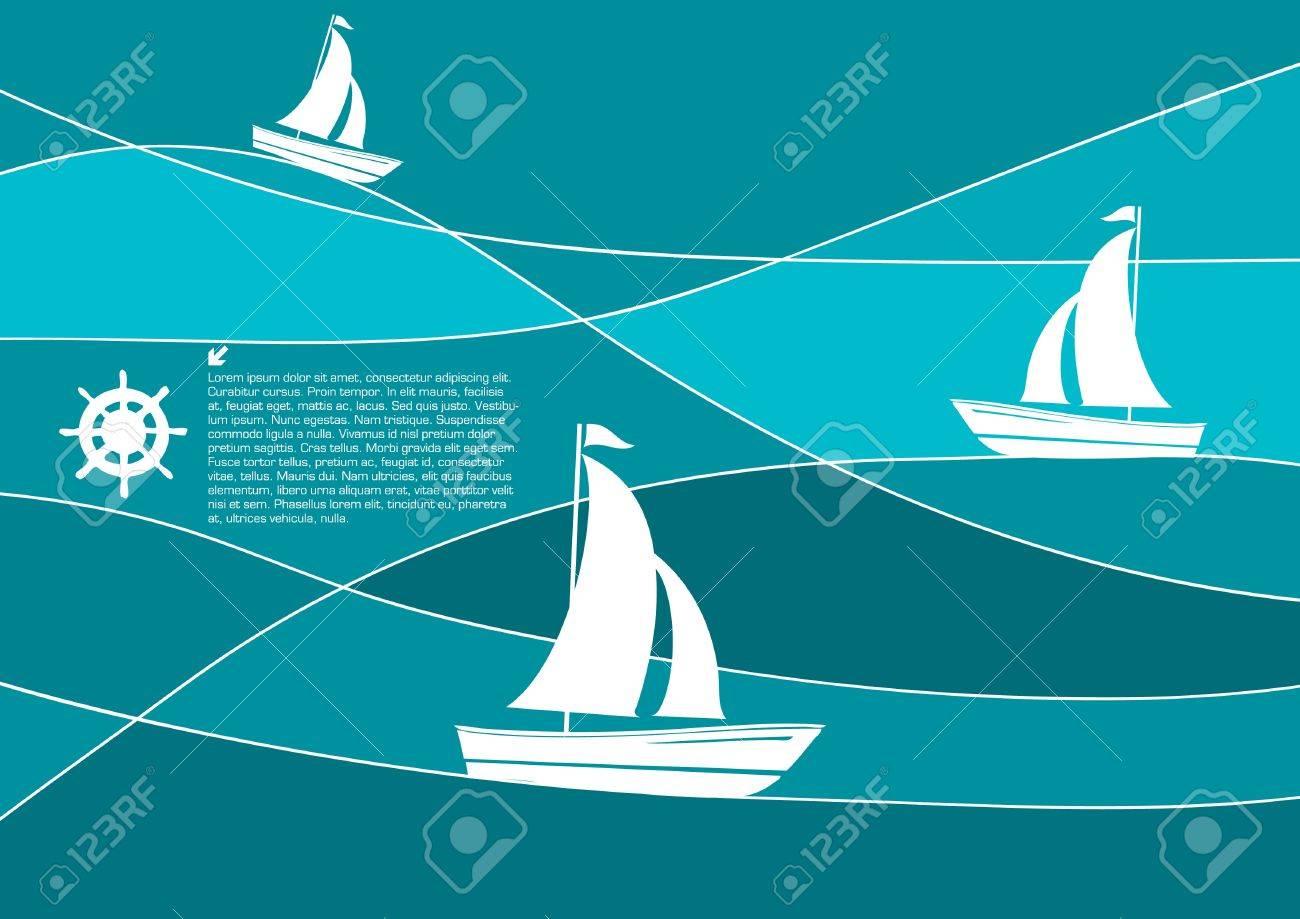 sailing boats abstract vector Stock Vector - 9765569