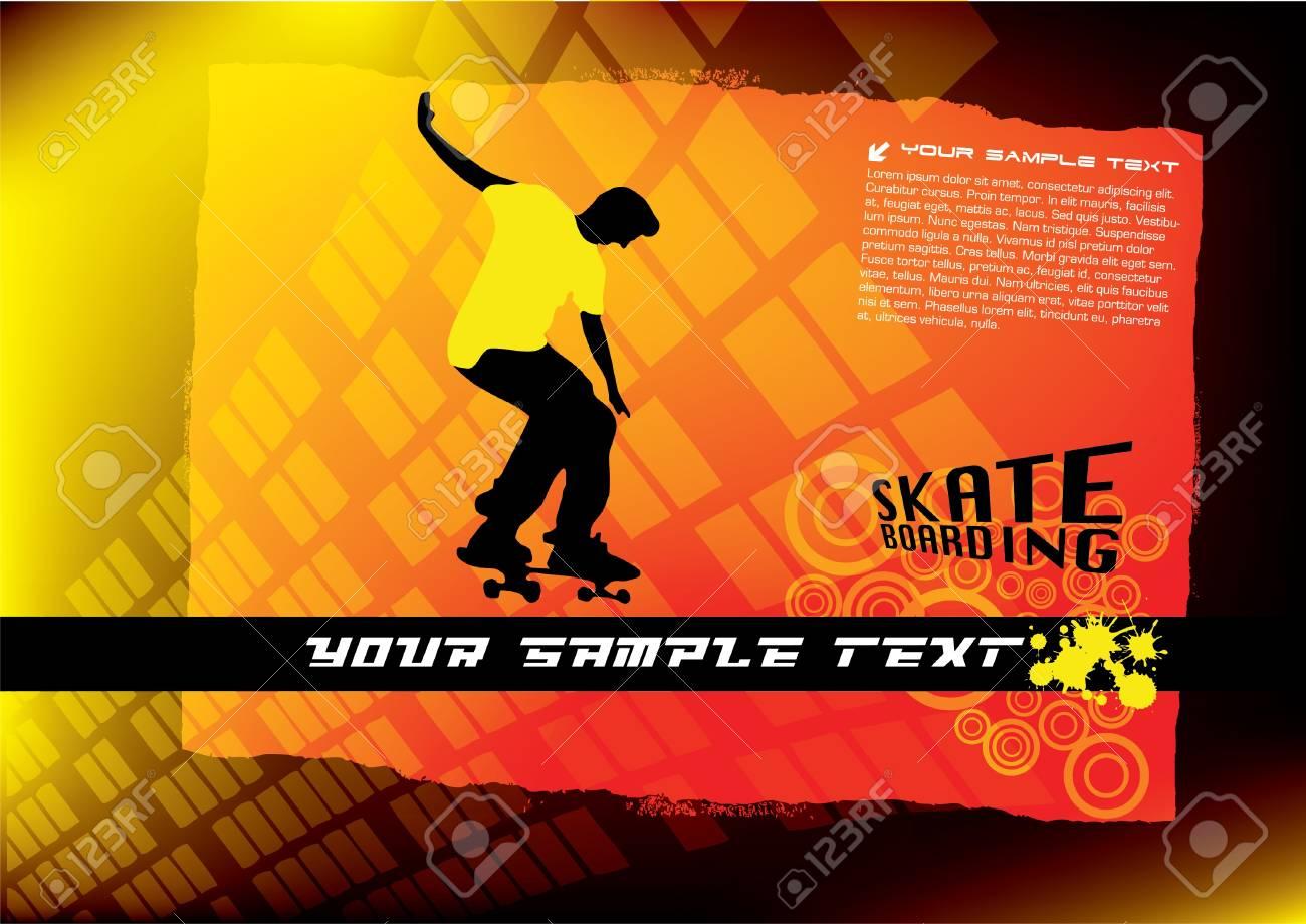 abstract skateboard vector Stock Vector - 10090246