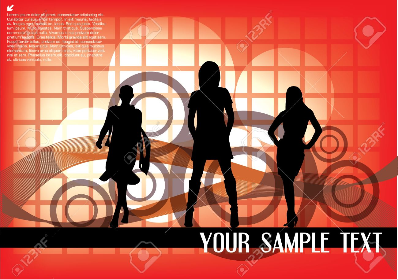 Fashion Show On Abstract Background Royalty Free Cliparts Vectors