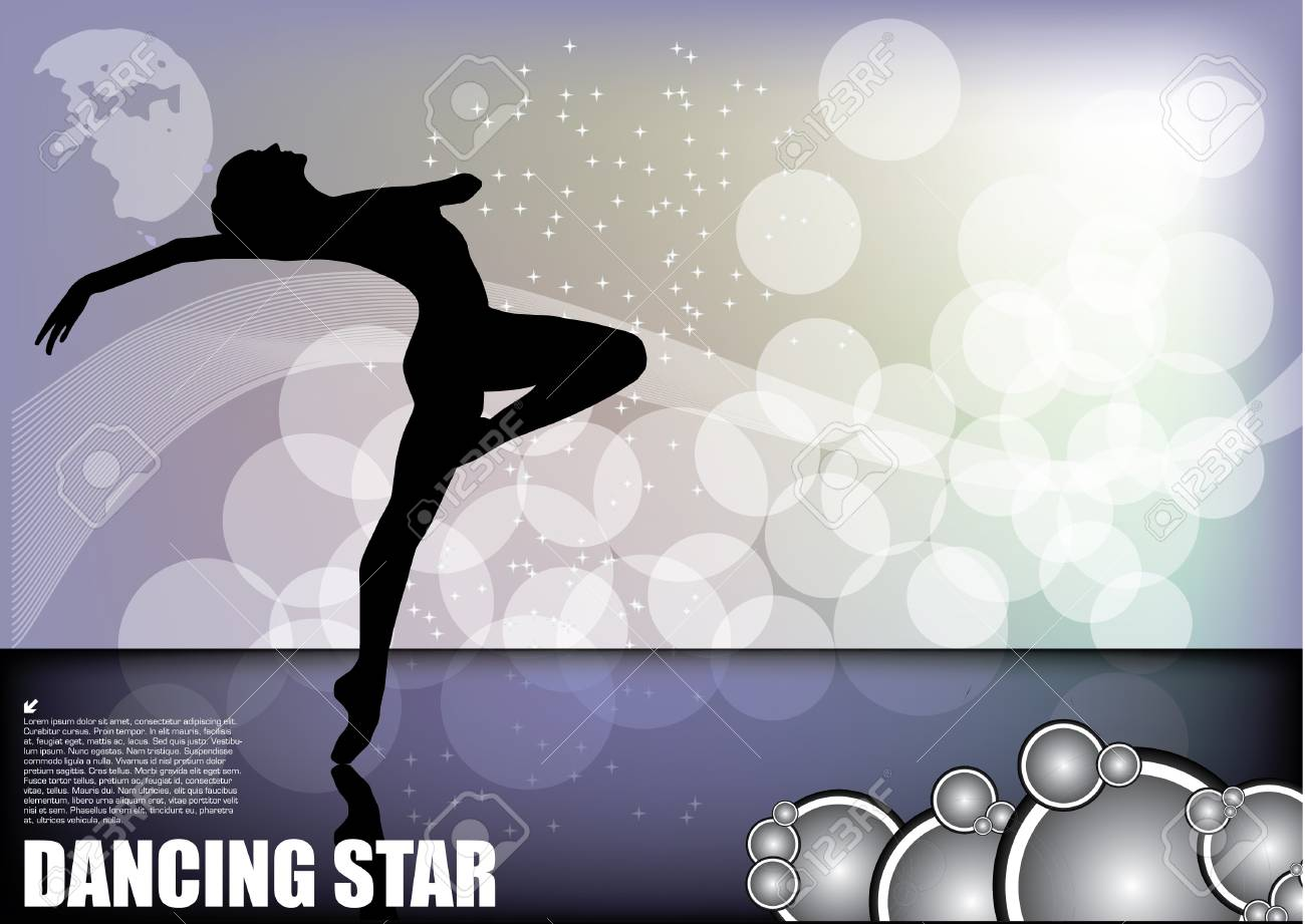 dancer on magic background Stock Vector - 11493373