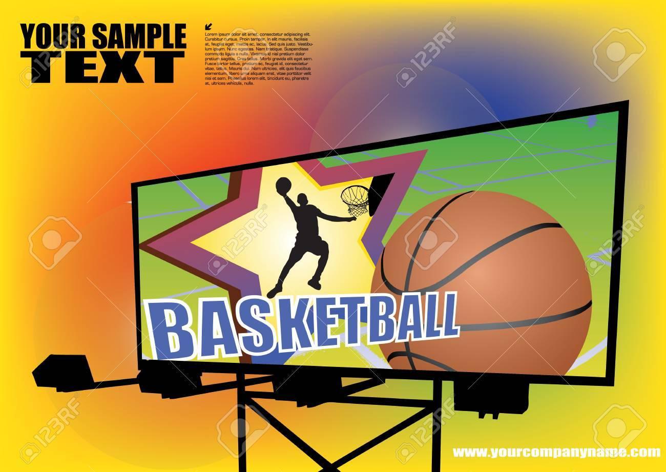 basketball billboard background Stock Vector - 12062222