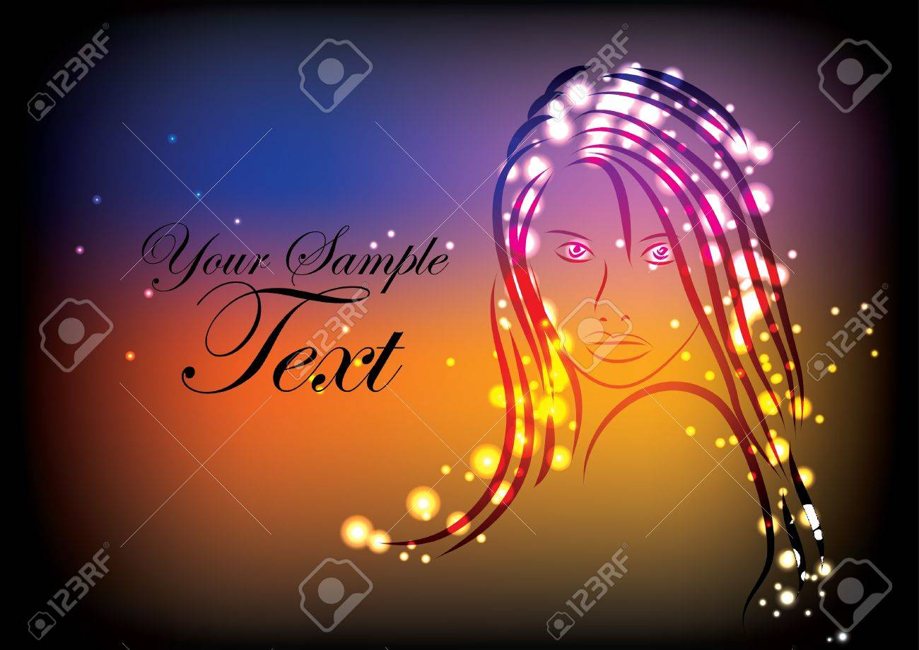 decorative magic woman background Stock Vector - 13280962