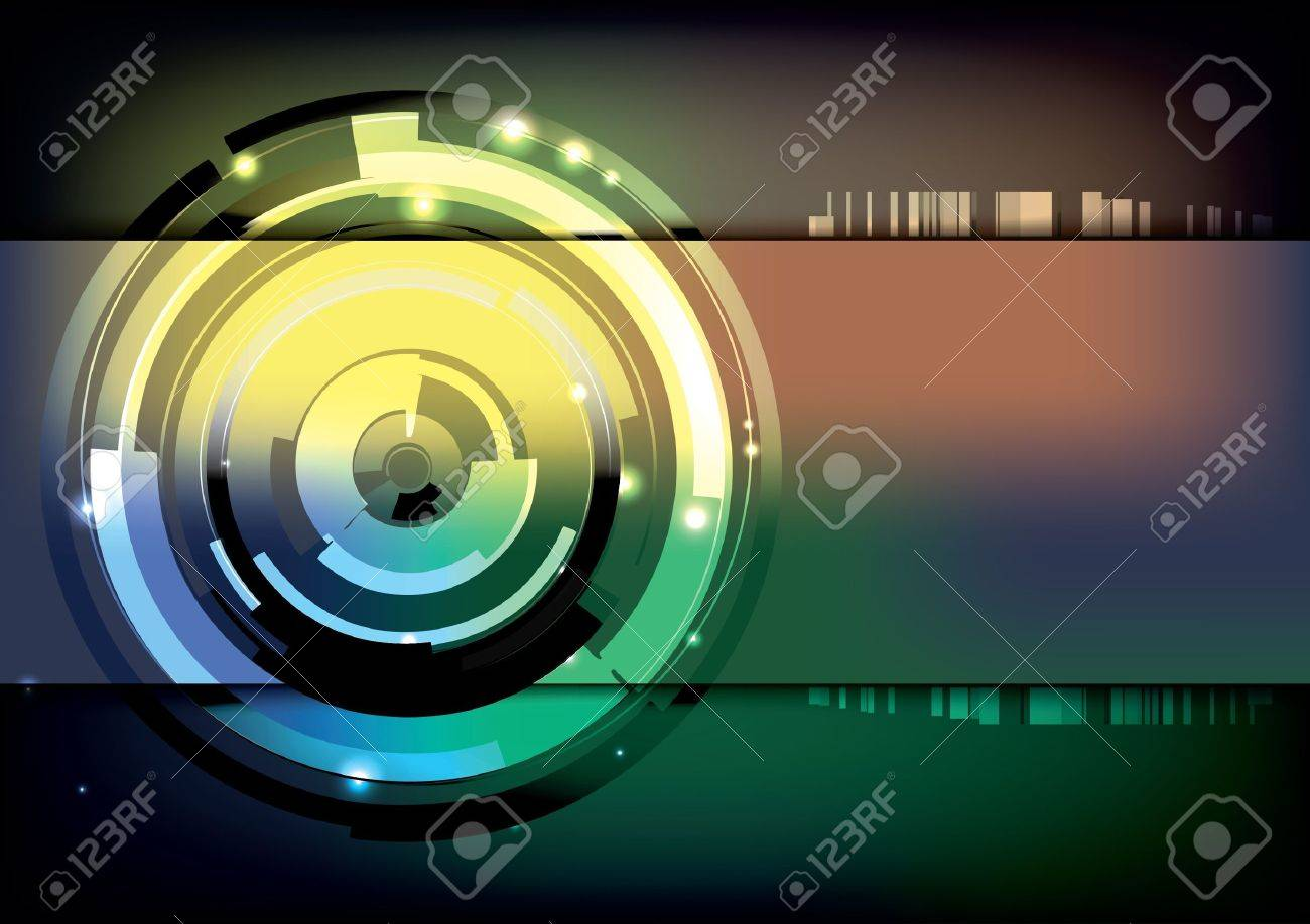 tech ring background Stock Vector - 14154465