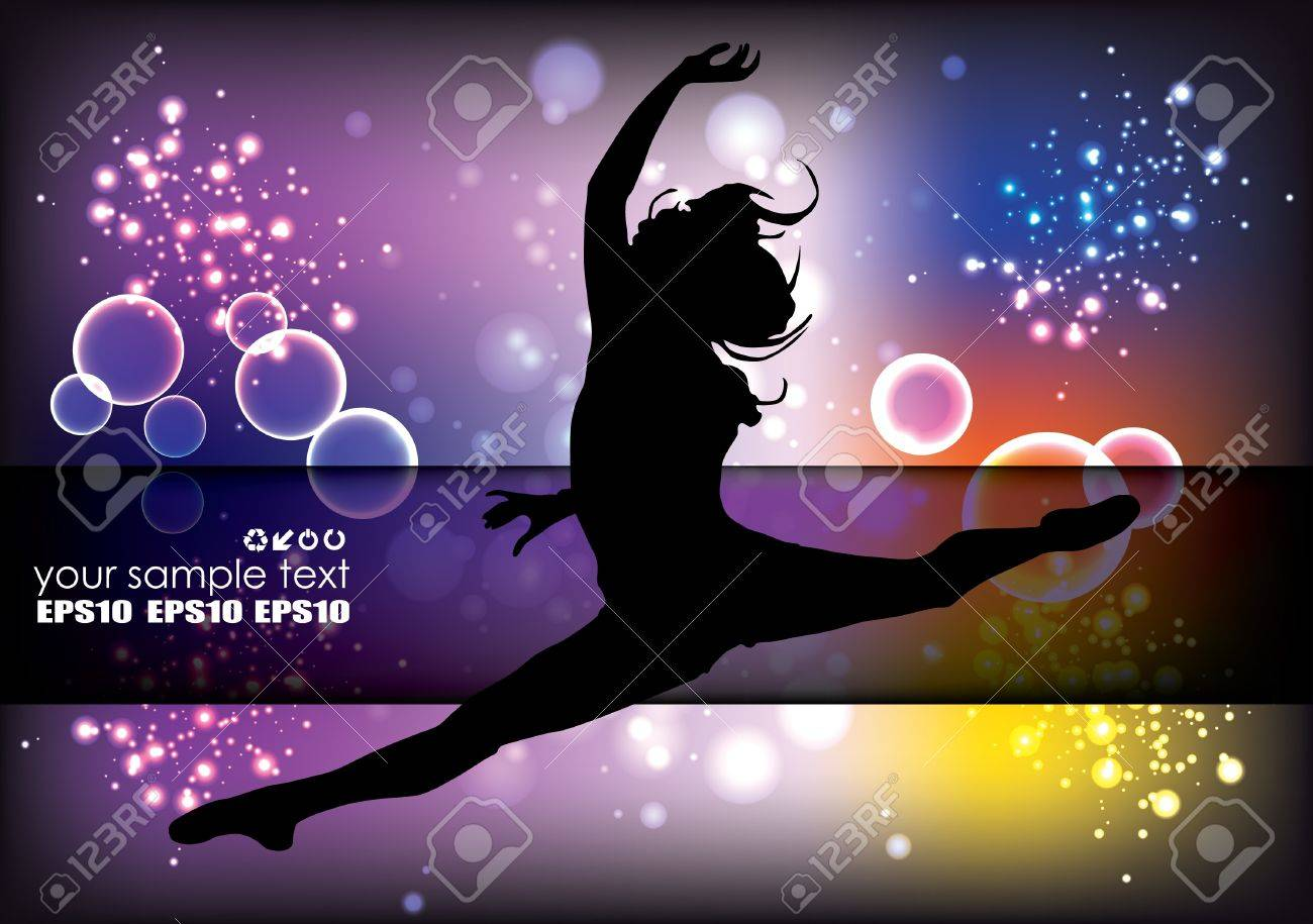 dancing woman background Stock Vector - 14477285