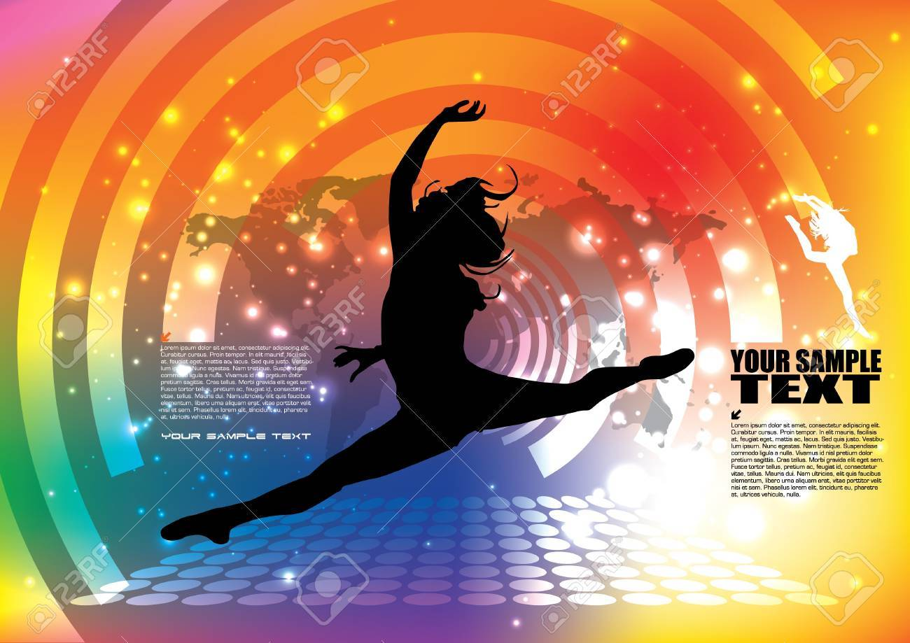 dancing woman background Stock Vector - 14592958