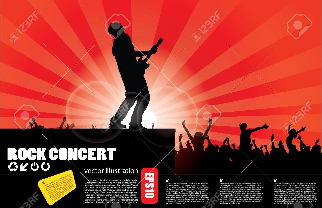 Pics photos rock concert background - Vector Rock Concert Background