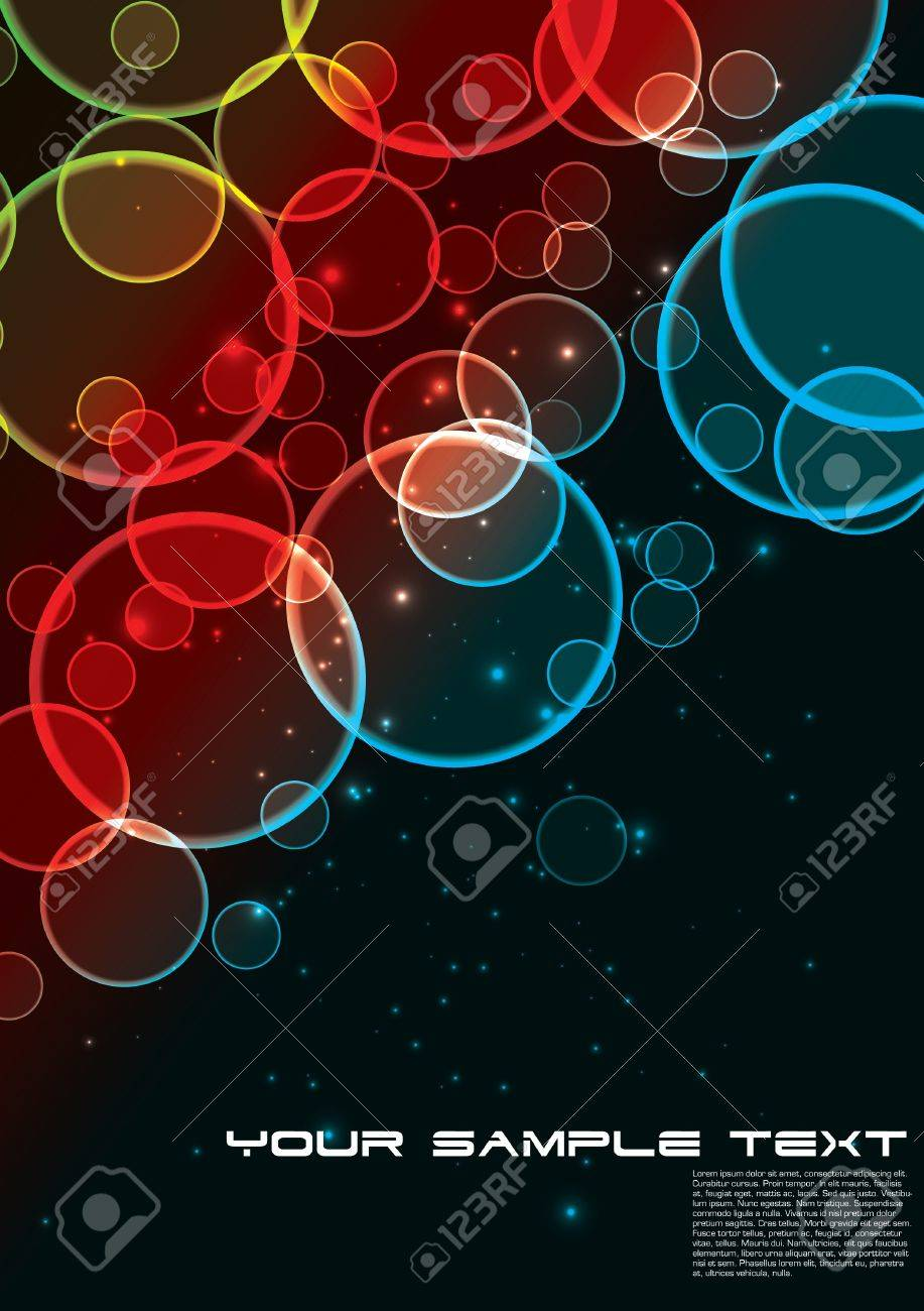 glowing circles background Stock Vector - 15381964