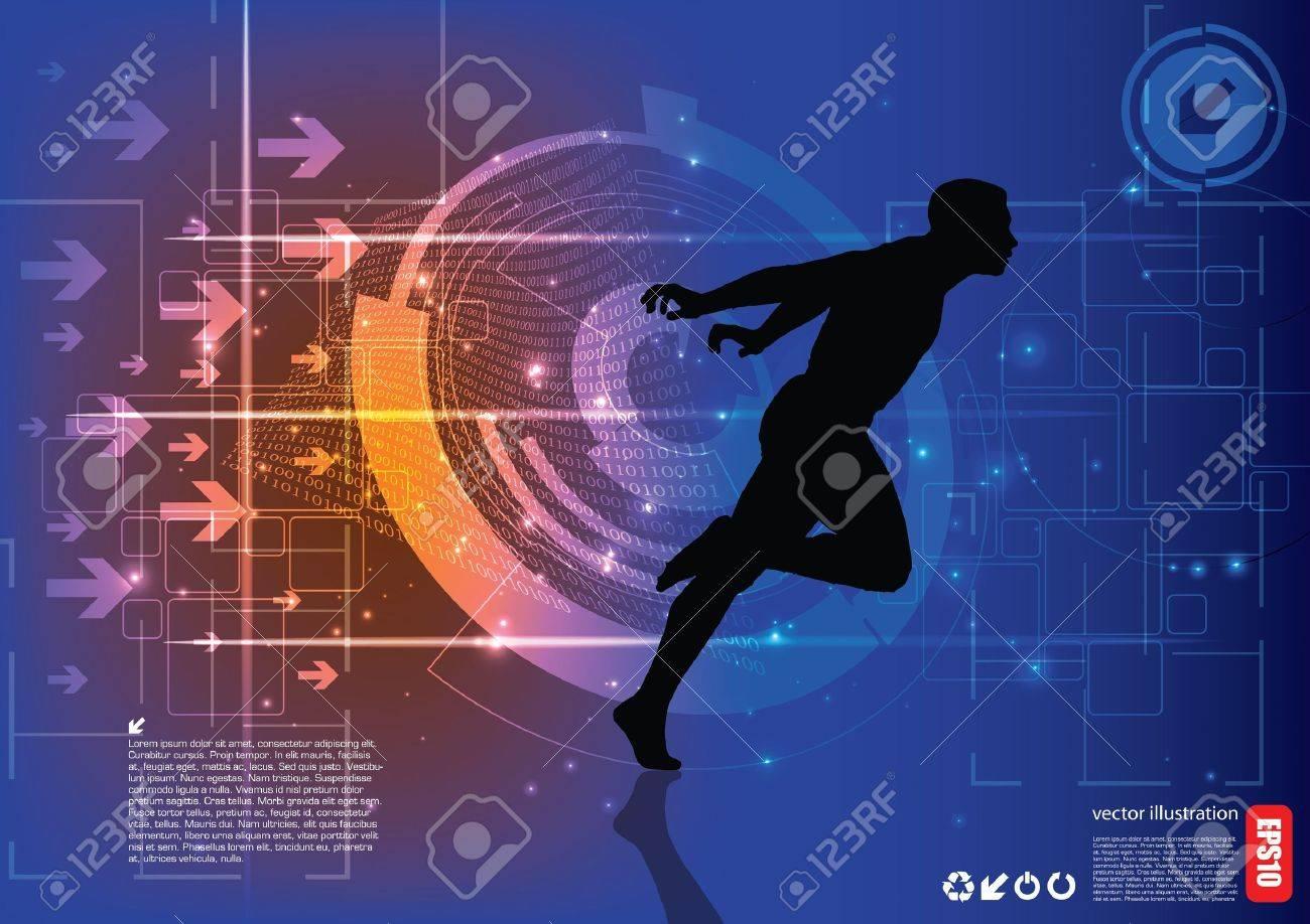 runner background Stock Vector - 15934449