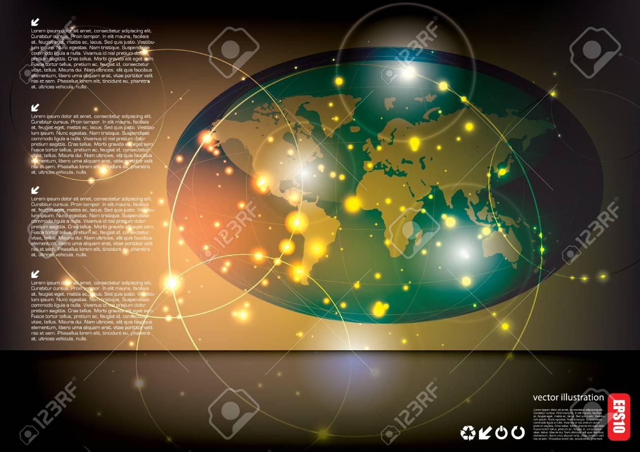 world globe tech background Stock Vector - 15934440