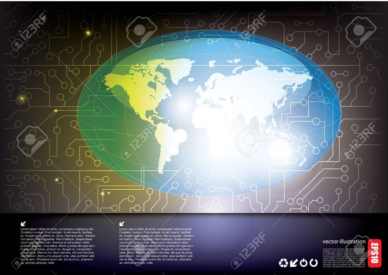 world tech background Stock Vector - 16029684