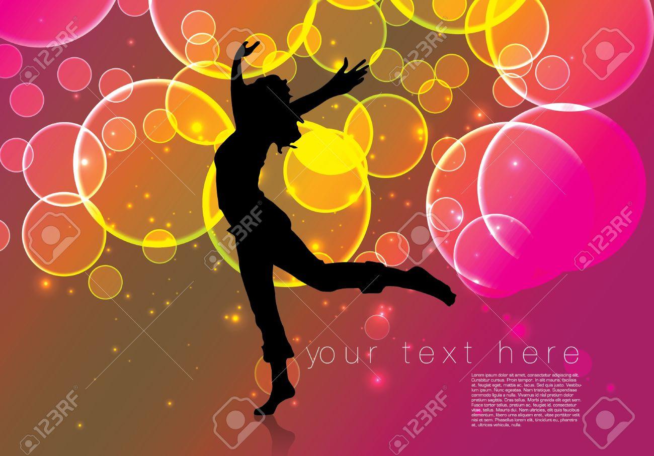 dancing woman background Stock Vector - 16524613