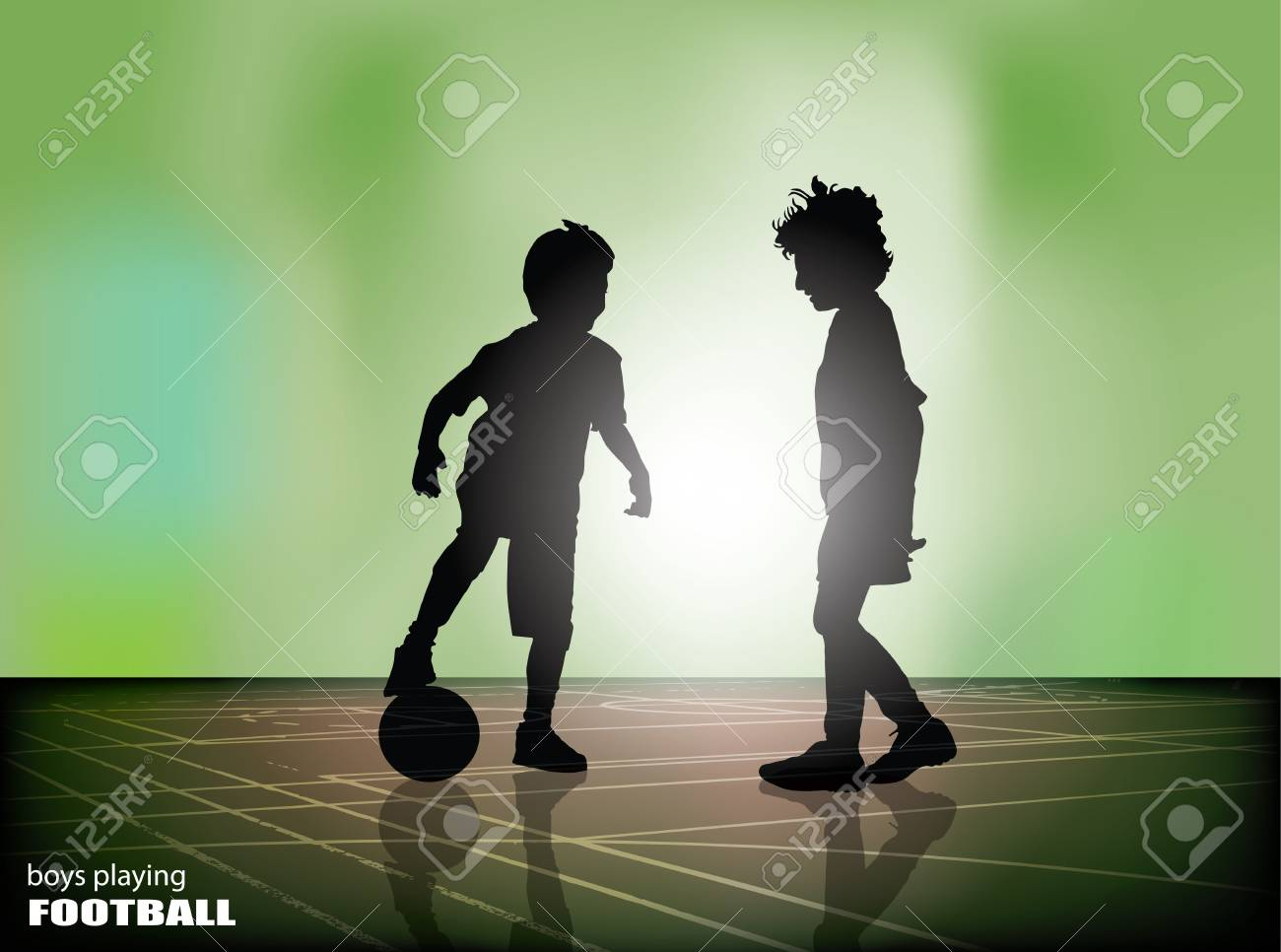football players on bright background Stock Vector - 16833049