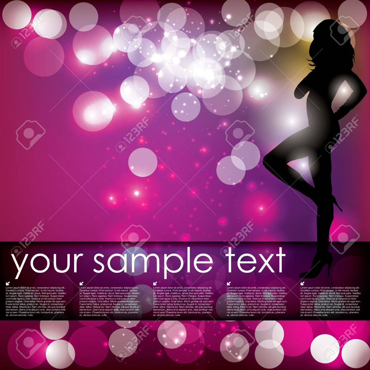 Fashion woman background Stock Vector - 17048366