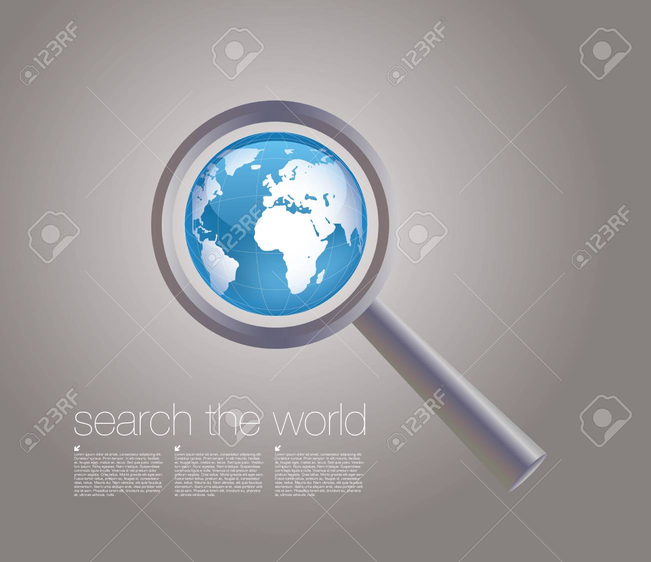 searching the world background Stock Vector - 17240650