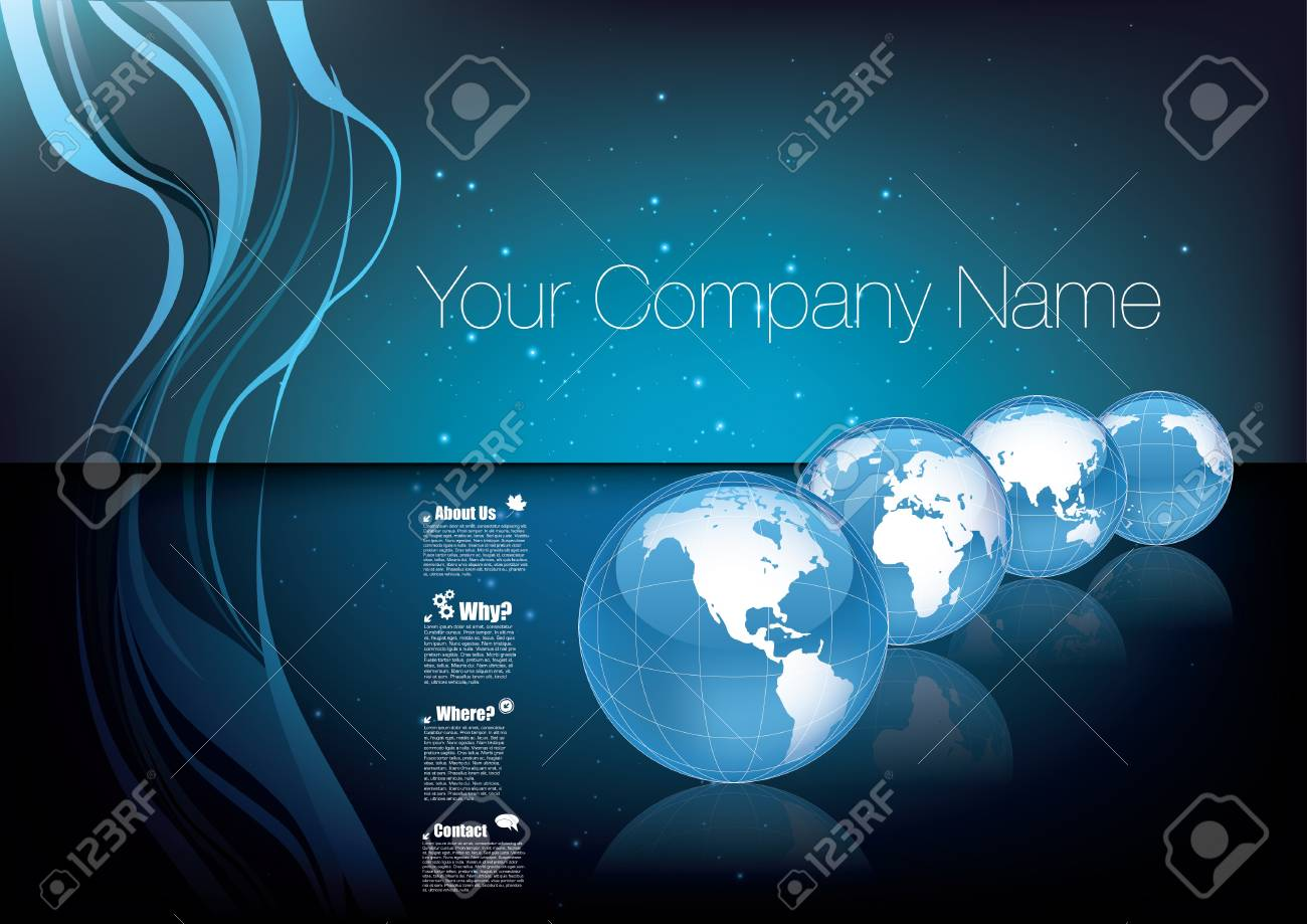 business brochure cover concept Stock Vector - 17316052