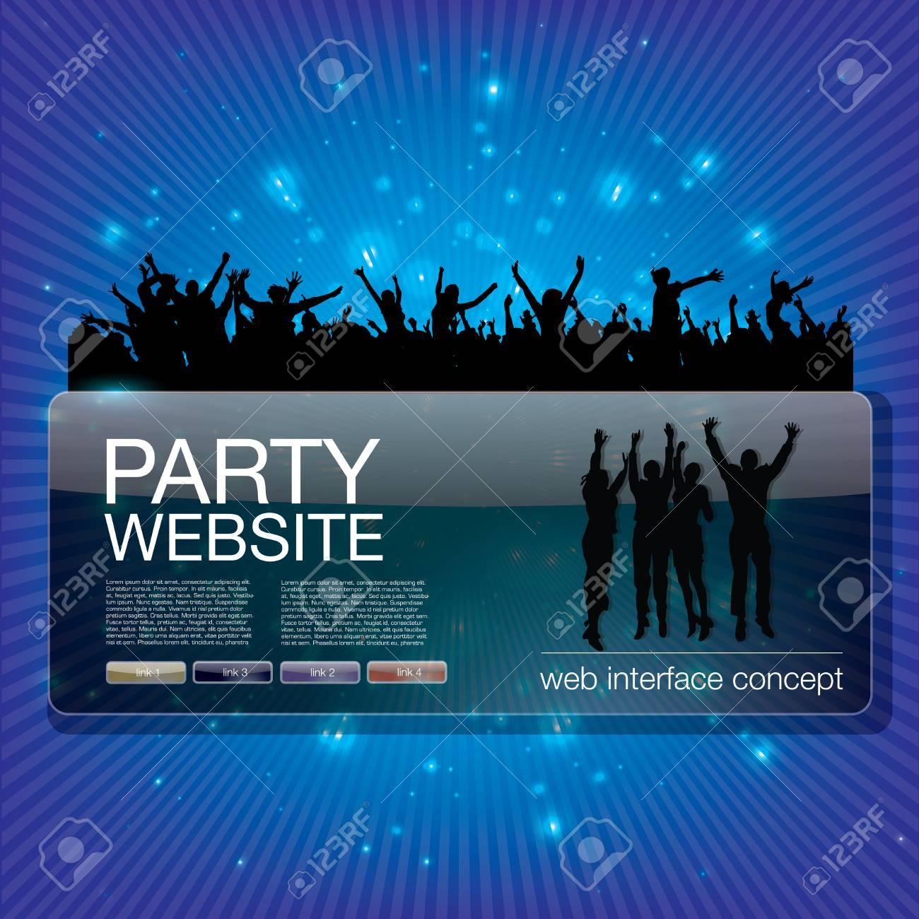 party website splash Stock Vector - 17439633