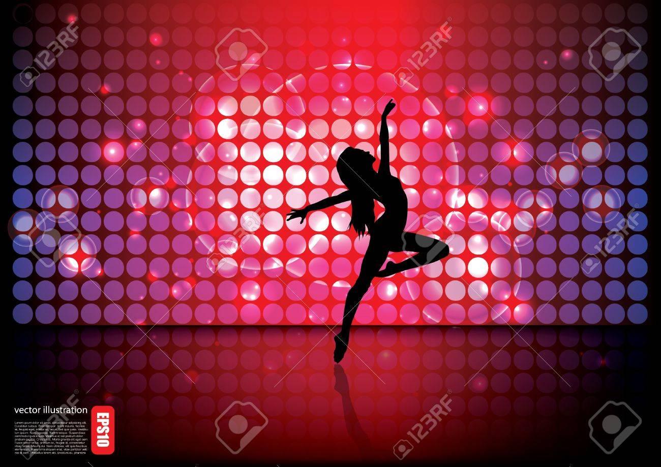 magic ballet  background Stock Vector - 17572796