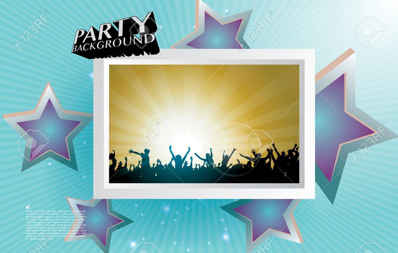 party people frame background Stock Vector - 17859975