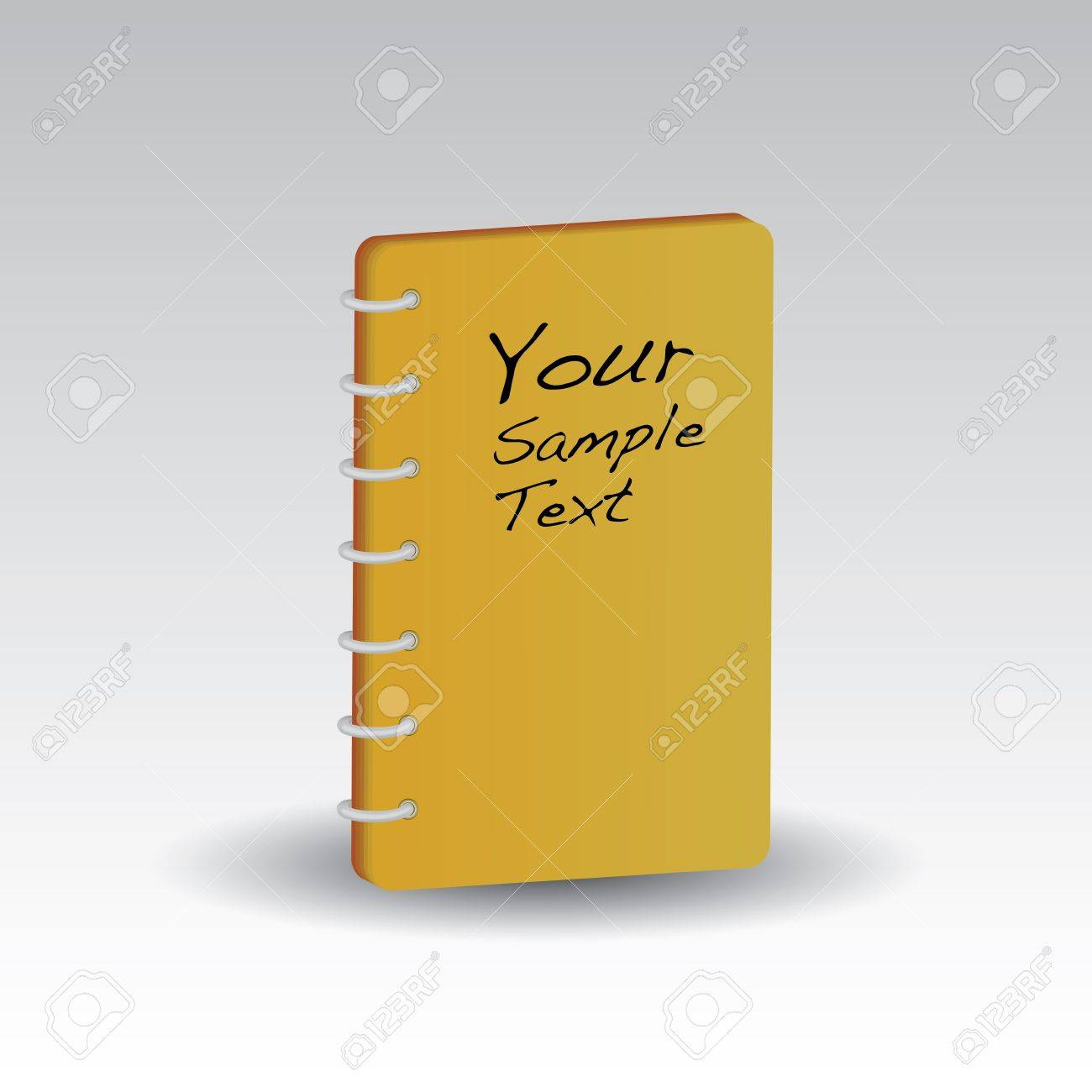 yellow notebook isolated Stock Vector - 18787104