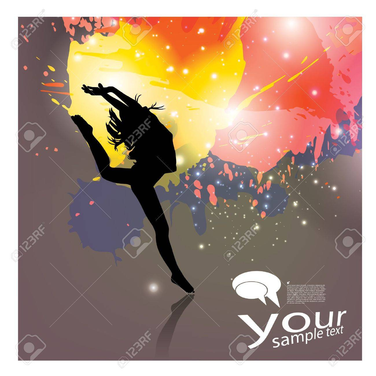 dynamic person background Stock Vector - 19177349
