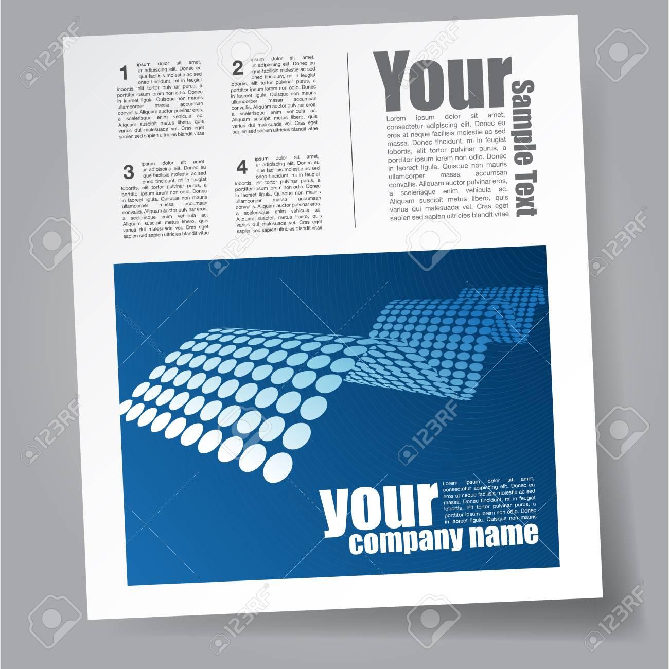 Plantilla Revista Tecnología Ilustraciones Vectoriales, Clip Art ...