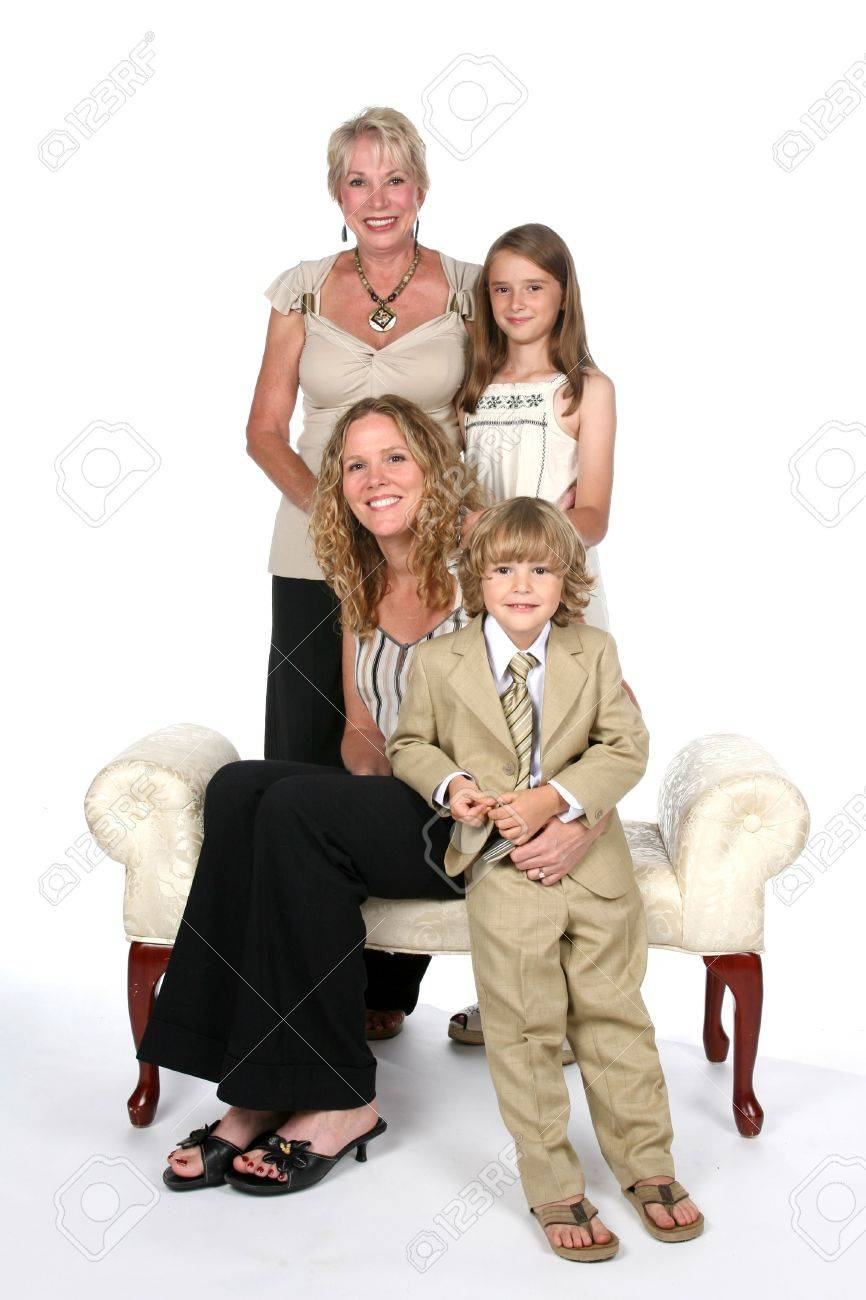 three generations of an attractive family Stock Photo - 8965251