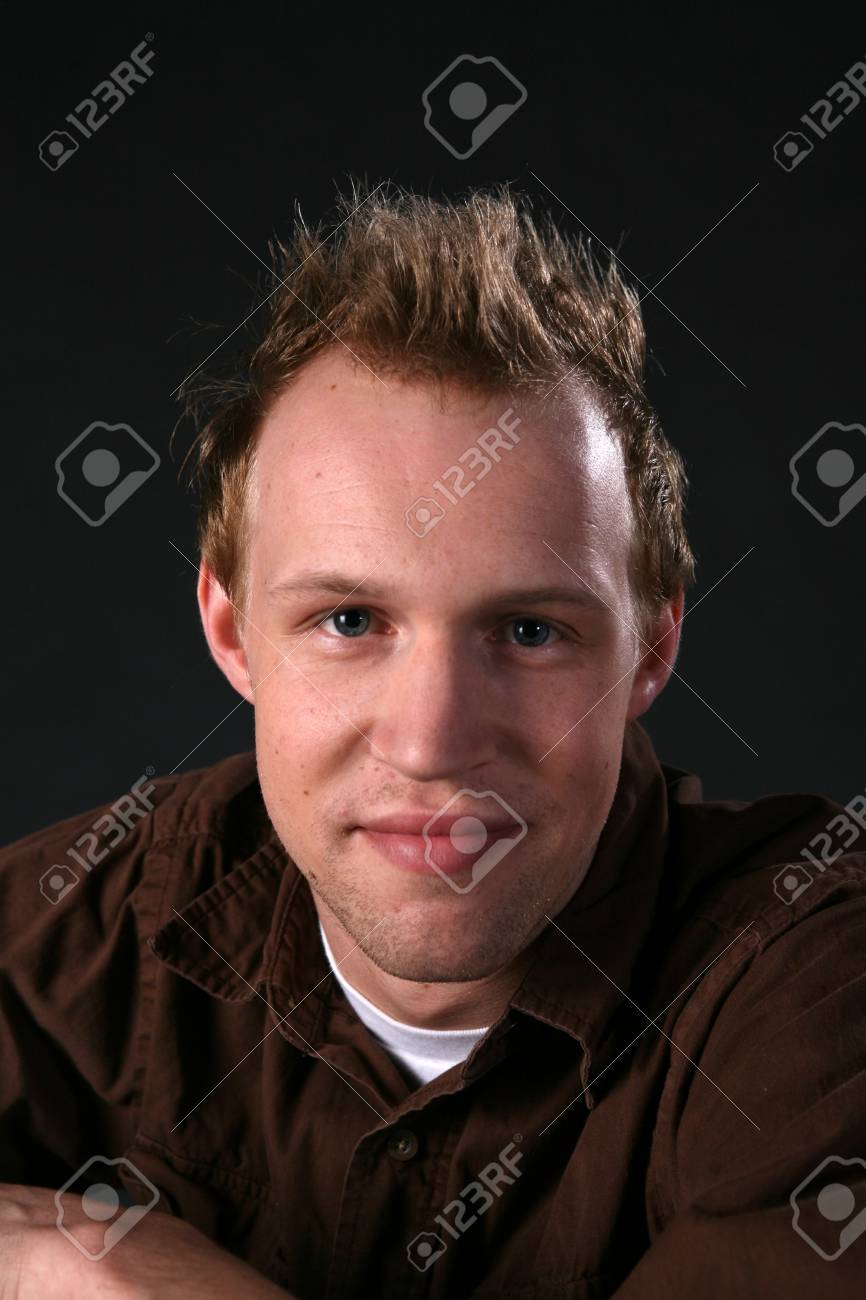 confident young man with hair up Stock Photo - 3493470