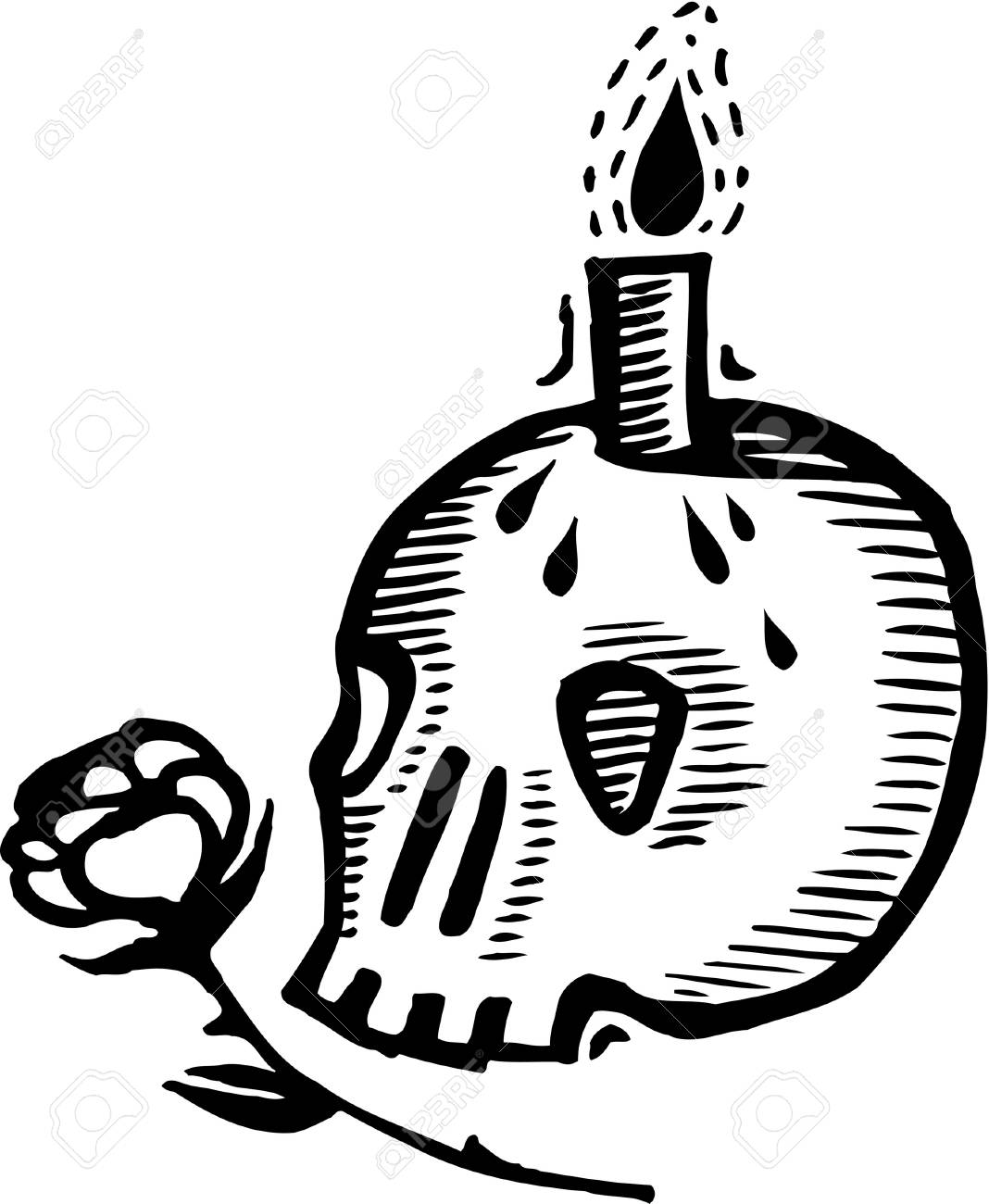 Black And White Skull Candle Holder And Rose Stock Photo Picture And Royalty Free Image Image 14853387